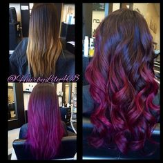 Hair By Lily - San Jose, CA, United States. Purple/ pink and plum ombré balayage