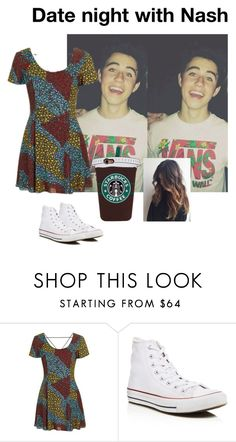 """""""Date night with Nash Grier"""" by breadstick52 ❤ liked on Polyvore featuring Topshop and Converse"""
