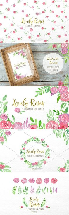 Watercolor,lovely roses. Watercolor Flowers