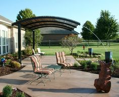 Steel Shade Pergolas provide a shade covering for your patio or outdoor living area.