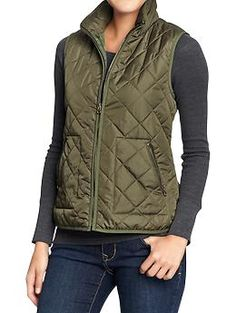Women's Quilted Barn Vests | Old Navy