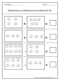 Adunarea si scaderea in concentrul 0 - 10 Letter Tracing Worksheets, Printable Alphabet Letters, Worksheets For Kids, Addition And Subtraction Worksheets, Teen Numbers, Activities For Teens, Small Letters, Preschool Math, Math For Kids