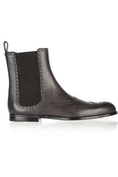 Bottega Veneta Brogue-detailed leather Chelsea boots | NET-A-PORTER