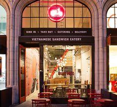 Bun Mee Vietnamese sandwich shop by zero ten design San Francisco California