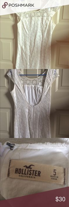 Hollister White Dress White Dress from Hollister. Worn once. Hollister Dresses Mini