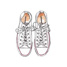 Good objects - Converse White. Converse are by far my favorite shoes to wear
