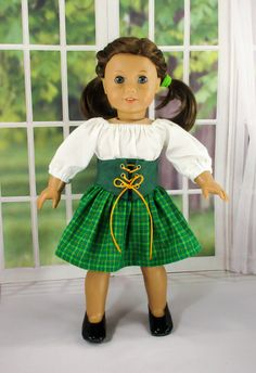 St. Patrick's Day Doll Dress Fits 18 inch by DollClothesbyKatie