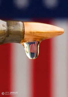 Patriotic droplet - title Honoring the Fallen - Macro photography Military Weapons, Military Life, Army Life, Military Quotes, Army Mom, Military History, Way Of Life, The Life, Pro Gun