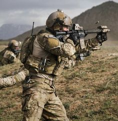 Army Ranger In action