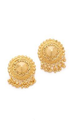 15445c9ea99 WANT: Noir Jewelry Darjeeling Large Stud Earrings Noir Jewelry, Chandelier  Earrings, Gold Earrings