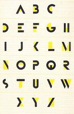 A.M. Cassandre - Bifur (1929)  Typographie/jaune/barre/noir/variété/unité/charte graphique