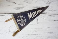 Vintage Pennant- Maine. $10.00, via Etsy.