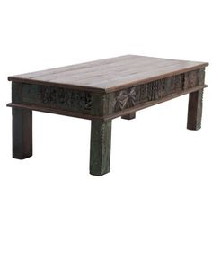 Coffee Table Wooden Carved Frame