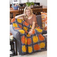 Crochet Afghan Patterns Let the Sun Shine Throw Crochet Pattern Crochet Diy, Crochet Afgans, Manta Crochet, Love Crochet, Crochet Blankets, Double Crochet, Crochet Flowers, Crochet Squares Afghan, Granny Squares