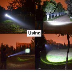 Новый супер яркий 3800 LM CREE T6 мощный светодиодный фонарик Открытый 5 Режим масштабируемой Водонепроницаемый лампа Torch Light для 18650 или AAA