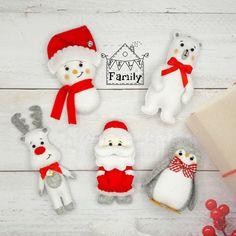 Christmas ornaments felt ornament Christmas felt Decor | Etsy