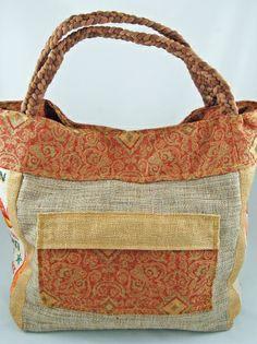 Upcycled Himalayan Gold Bag