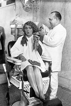 Hollywood's First Haircut Heard 'Round the World Bad Hair, Hair Day, First Haircut, Short Haircut, Nostalgia, Mary Pickford, Hollywood, Best Beauty Tips, Beauty Shop