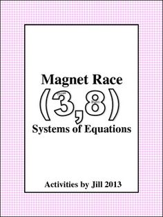 Magnet races are similar to good old-fashioned board races with chalk and are loads of fun!