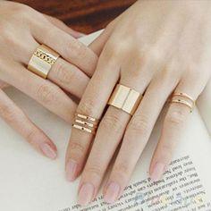3 Piece Set Midi Finger Open Rings