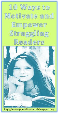 10 Ways to Motivate and Empower Struggling Readers - Making summer reading fun and engaging. Why just summer why not year round. Reading Resources, Reading Strategies, Reading Skills, Teaching Reading, Reading Comprehension, Reading Workshop, Reading Process, Reading Tips, Teaching Kids