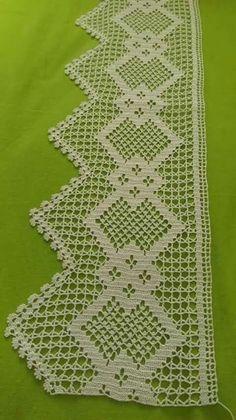 Hatice Oğuz's 341 media content and analytics Crochet Boarders, Crochet Edging Patterns, Crochet Lace Edging, Crochet Motifs, Thread Crochet, Crochet Trim, Love Crochet, Crochet Designs, Crochet Stitches