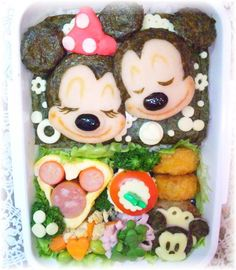 Sleeping Mickey and Minnie