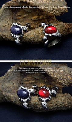 Vintage Scorpion Garnet and Blue sandstone Titanium Steel Rings #jewelry #jewels #jewel #gems #gemstone #stones #trendy #accessories #crystals #bracelets #earrings #rings #pendants #necklaces #charms #beads #love #fashion #style #stylish #shopping #cool #cute #amazing #fun #funny #beautiful #follow #likes #comment
