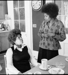 Toni Morrison and Alice Walker, 1974 Photo by Jill Krementz Alice Walker, Michele Norris, Beloved Toni Morrison, Black Authors, African American Women, African Americans, Great Women, Black Power, Boss Lady