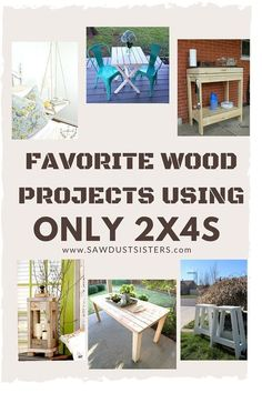 Favorite wood projects using 2x4s. A project for everyone. Ranging from beginner to more advanced wood workers. Come check them out.
