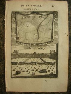 """View of the planets and the Tuileries from  Alain Manesson Mallet's 1683 """"Description de l'univers"""""""