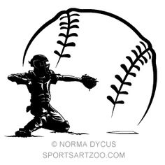 Baseball Catcher Silhouette in Ball — SportsArtZoo Baseball Videos, Baseball Tips, Baseball Crafts, Baseball Mom Shirts, Baseball Jerseys, Baseball Stuff, Baseball Girlfriend, Baseball Socks, Baseball Pictures