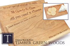 Liven up your party with this laser-engraved cheese board, made from Sustainable Harvest black cherry wood. This board is designed for both cutting and serving your favorite cheese. Dimensions of this cheese board measure approximately 10 long x 6 1/4 wide x 5/8 thick. Expertly hand-sanded for an lasting and ultra-smooth finish, and sealed with non-toxic food safe oil to enhance and protect the woods natural beauty.  The beautiful cherry wood used in this serving board was sustainably…