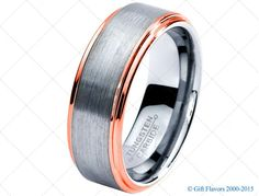 Rose Gold Wedding Band Ring Tungsten Carbide 8mm 18K Tungsten Brushed Ring Man Wedding Band Male Women Custom Laser Engraving Anniversary
