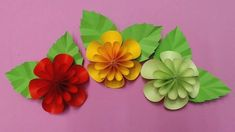 How to Make Flower with Color Paper | DIY Paper Flowers Making - YouTube