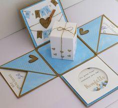 Explosionsbox / Explosion Box, Stampin Up, Hochzeitskarte / Wedding Card