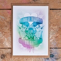 Satin and Tat creates quirky wedding invitations and stationery for style savvy couples having an alternative, off-beat or vintage wedding day. Quirky Wedding Invitations, Youre Invited, Big Day, Tatting, Stationery, Wedding Day, Design, Pi Day Wedding, Paper Mill
