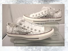 Crystal Converse Low rise  / Wedding converse / bridesmaid converse / customised converse / lace converse / sparkle / delicate / romantic