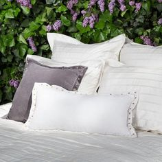 Bedroom inspiration and bedding decor | Custom bedding and pillows
