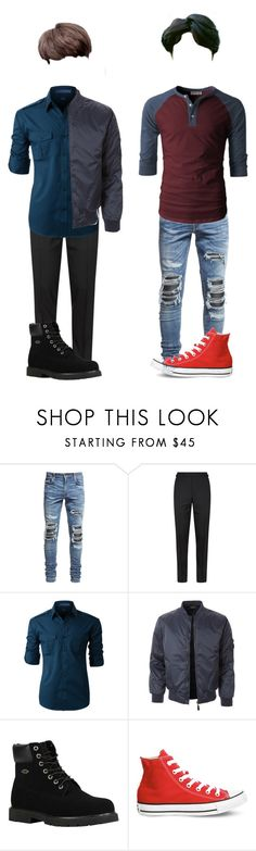 """""""§ MV Filming §"""" by alpha-blue ❤ liked on Polyvore featuring AMIRI, Tom Ford, LE3NO, Lugz, Converse, men's fashion and menswear"""