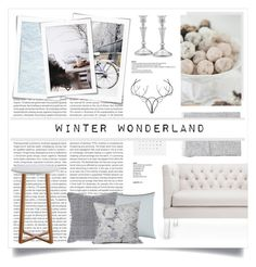"""""""Winter Wonderland"""" by in-genue ❤ liked on Polyvore featuring interior, interiors, interior design, home, home decor, interior decorating, Oris, Chandra Rugs, Dot & Bo and DENY Designs"""