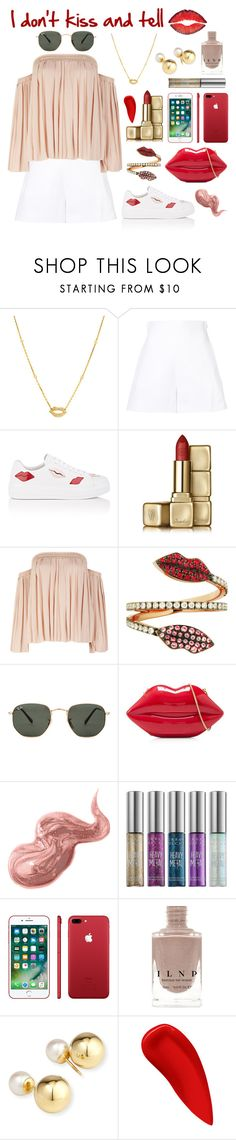 """Shhhhhh..."" by theodor44444 ❤ liked on Polyvore featuring Casa Reale, Delpozo, Prada, Guerlain, Elizabeth and James, Delfina Delettrez, Ray-Ban, Lulu Guinness, Bobbi Brown Cosmetics and Urban Decay"
