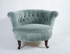 victorian velvet chair