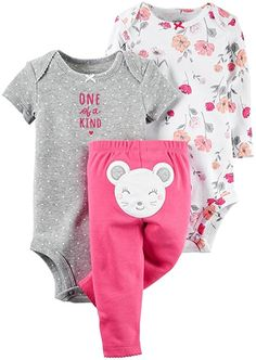Carter's Baby Girls Take Me Away 3-Piece Little Character Set  -3 Months -Mouse