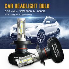 BUY now 4 XMAS n NY. 2pcs Auto Car Headlight H7 LED H4 H1 H3 H8 H9 H11 9006 9005 CSP Chip 50W 8000LM Automobile Headlamp Fog Light 6500K Car Styling * Locate this beautiful piece simply by clicking the VISIT button