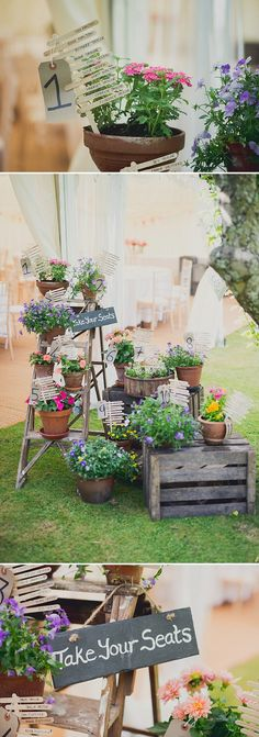 Colourful Marquee Wedding With Bride In Bespoke Gown Made By Jeni Summerfield With Mimosa Shoes From Rachel Simpson And Earrings From Jenny Packham With A Colourful Oversized Bouquet And Floral Crown 10 Seating Plan Wedding, Wedding Table, Rustic Wedding, Seating Plans, Tepee Wedding, Ladder Wedding, Herb Wedding, Wedding Country, Wedding Ideas