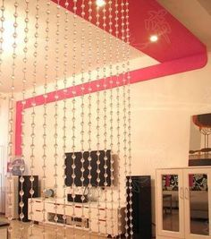 hanging beaded room divider, curtain