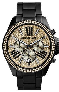 Michael Kors 'Wren' Pavé Dial Chronograph Bracelet Watch, 42mm | Nordstrom