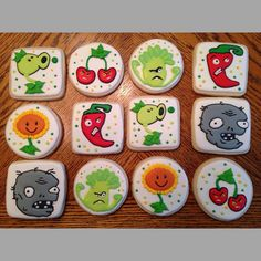 Plants Vs Zombies Cookies birthday party cookies