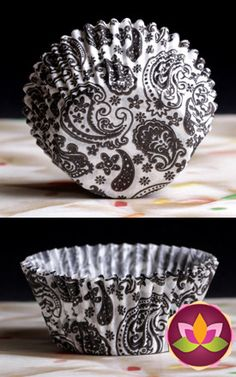 Paisley Baking Cups - Black